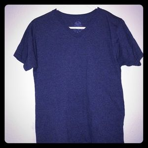 Other - Dark blue men's v neck tee size S Small